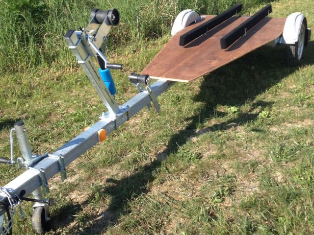 1 Canoe / 2 Kayak  SUP, Bike, Gear GALVANIZED TRAILER