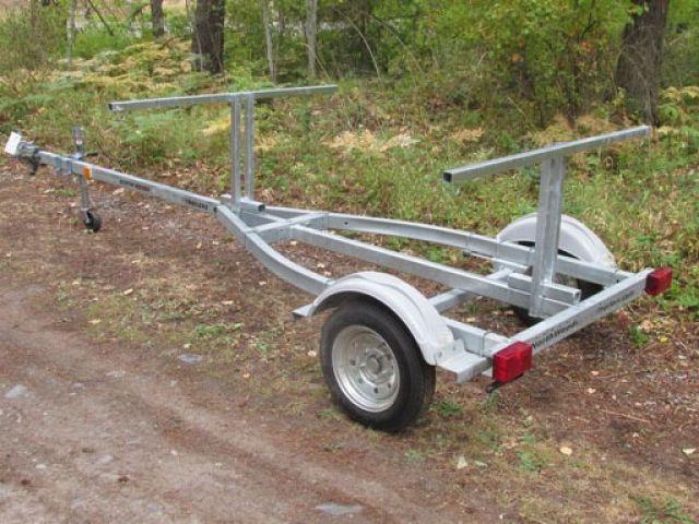 2 Canoe / 4 Kayak  SUP, Bike, Gear GALVANIZED TRAILER
