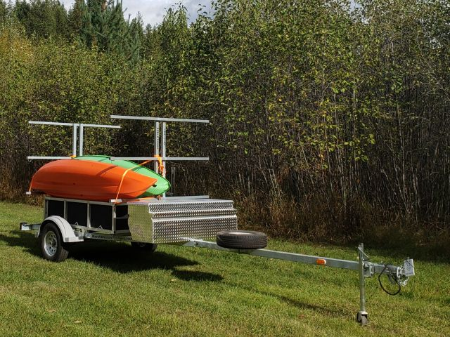 6 Canoe / 12 Kayak  SUP, Bike, Gear GALVANIZED TRAILER
